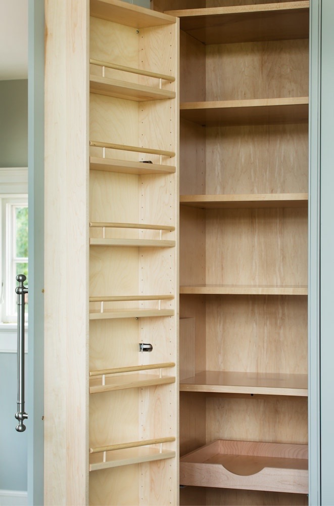 Pantry door shelving.